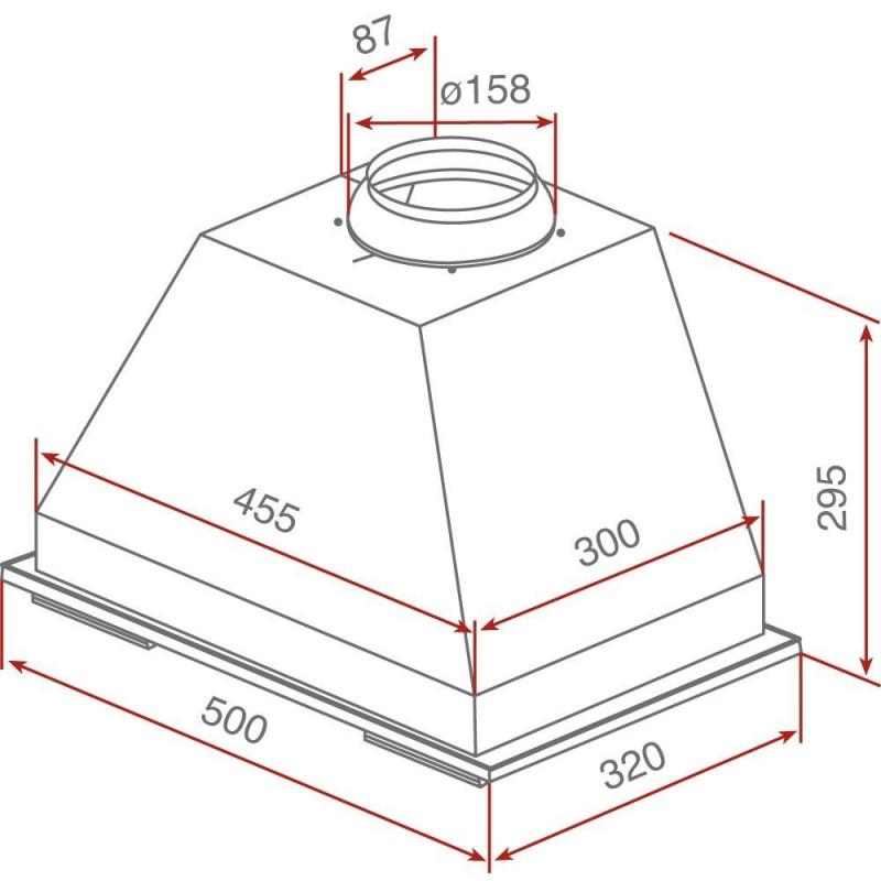 Grupo filtrante de cocina integrable teka gft inox inox for Muebles de cocina 60 cm