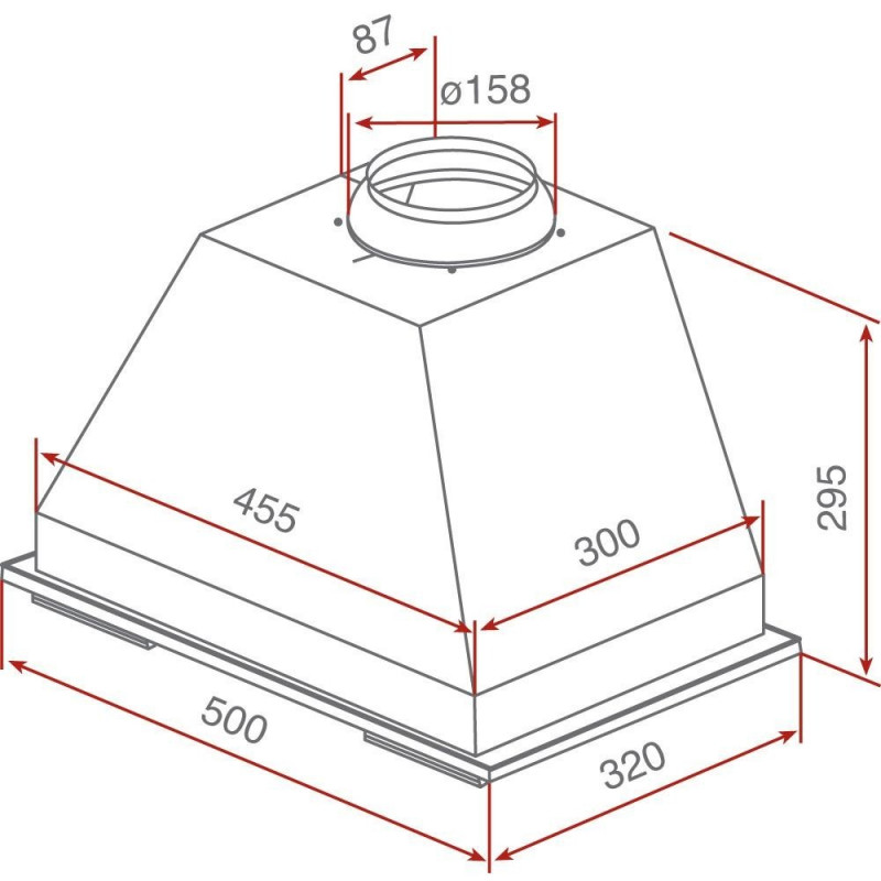 Grupo filtrante de cocina integrable teka gft inox inox for Muebles cocina 50 cm ancho