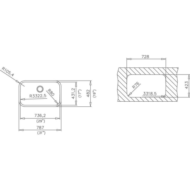 Fregadero teka be en acero inoxidable de una cubeta bajo encimera para instalar en mueble - Fregaderos bajo encimera teka ...