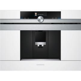 Cafetera Siemens CT636LEW1 integrable en color blanco y acero inoxidable