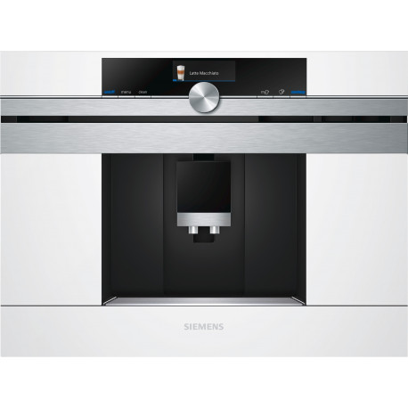 Cafetera Siemens CT636LEW1 integrable en color blanco y acero inoxidable