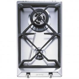 Encimera smeg SRV532GH3 a gas 30 cm 2 fuegos inox
