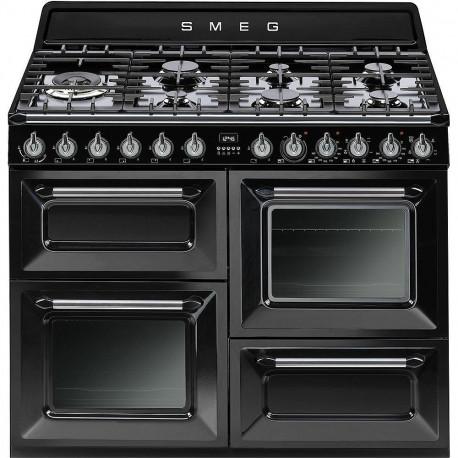 Cocina Smeg TR4110BL1 110x60 cm 7 fuegos negra A/A