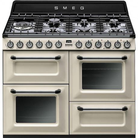 Cocina Smeg TR4110P1 110x60 cm 7 fuegos crema A/A