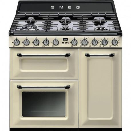 Cocina Smeg TR93P 90x60 cm 5 fuegos crema A/B
