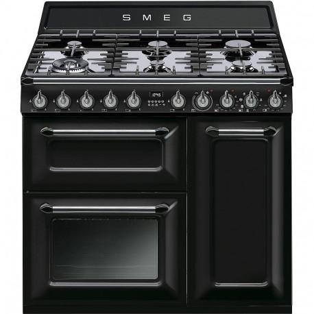 Cocina Smeg TR93BL 90x60 cm 5 fuegos negra A/B