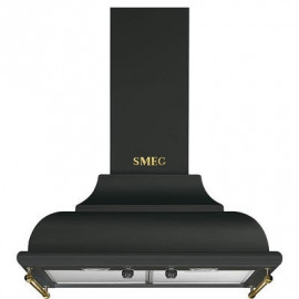 Campana decorativa SMEG KC16AOE, 60 cm, Antracita, Clase A