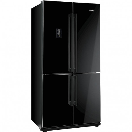 Frigorífico smeg FQ60NPE Side by Side No Frost negro clase A+