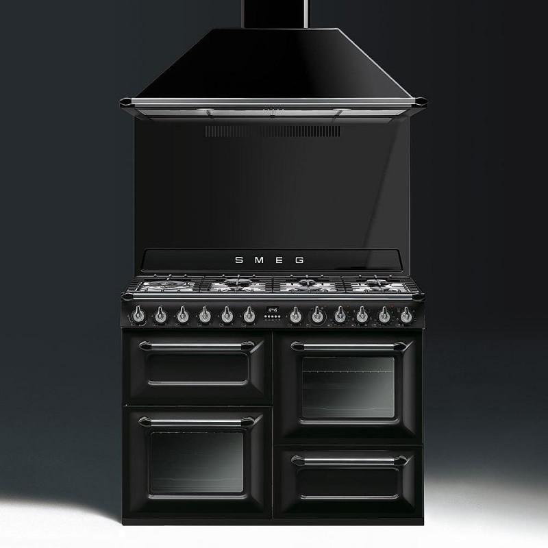 Attractive ... Cocina Smeg TR4110BL1 110x60 Cm 7 Fuegos Negra A/A