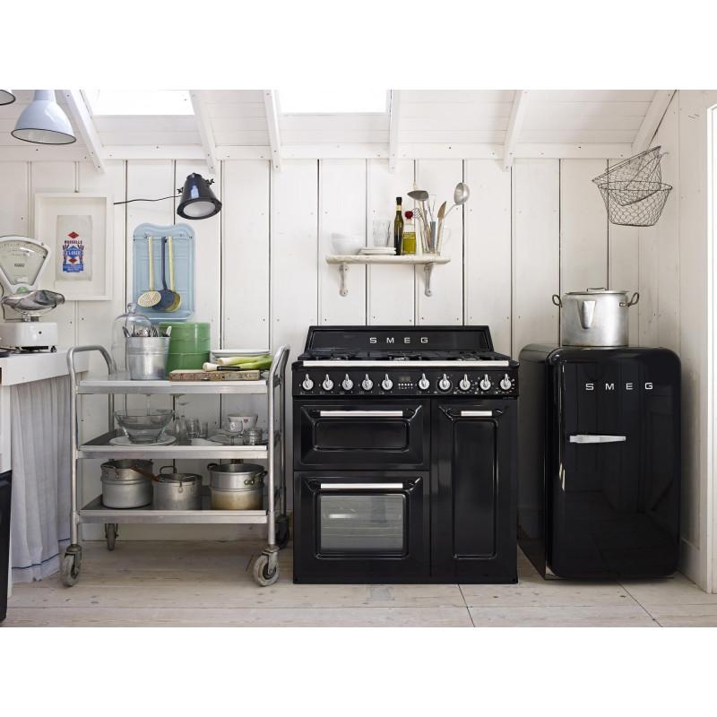 cocina smeg tr93bl 90x60 cm negra clase a b. Black Bedroom Furniture Sets. Home Design Ideas