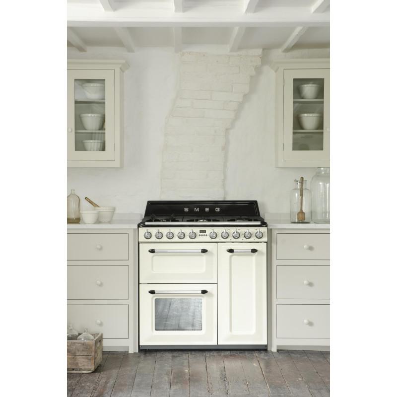 cocina smeg tr93p 90x60 cm crema clase a b