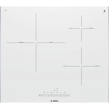 Encimera Bosch PID672FC1E Inducción Blanco 3 zonas Zona Gigante