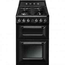 Cocina A gas SMEG TR62BL, Negro, 4 zonas, Zona Gigante