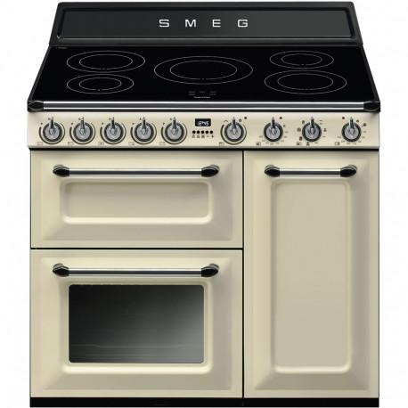 Cocina eléctrica SMEG TR93IP, Crema/Beig, Más de 4 zonas, Zona Gigante