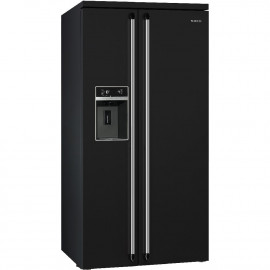 Nevera SMEG SBS963N Negro, No Frost, Clase A+