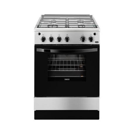 Cocina a gas ZANUSSI ZCG61281XA, 4 zonas, Inoxidable