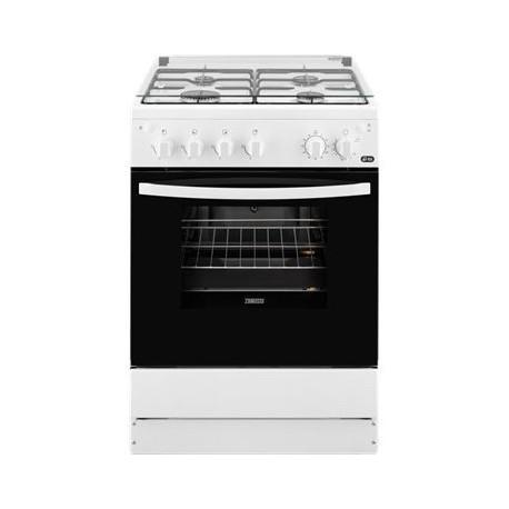 Cocina a gas ZANUSSI ZCG61281WA, 4 zonas, Blanco,