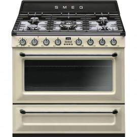 Cocinas a gas horno eléctrico SMEG TR90P9 Crema/Beig  Más de 4 zonas Zona Gigante