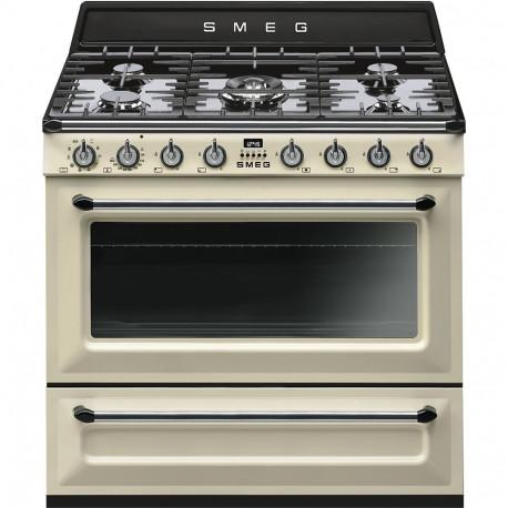 Cocinas A Gas Horno Ela C Ctrico Smeg Tr90p9 Crema Beig Ma S De 4