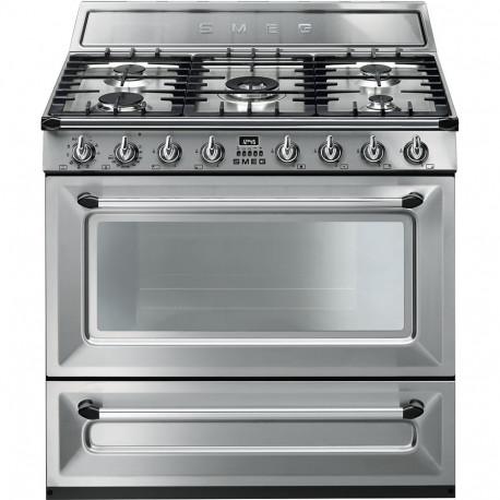 Cocinas a gas horno el ctrico smeg tr90x9 inoxidable m s for Accesorios para cocina a gas