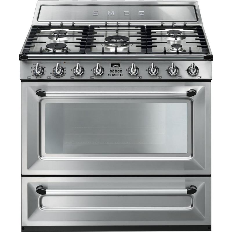 Cocinas a gas horno el ctrico smeg tr90x9 inoxidable m s for Hornos de cocina electricos