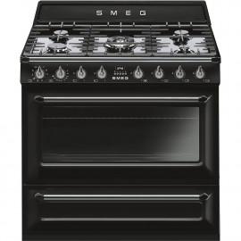 Cocinas a gas horno eléctrico SMEG TR90BL9 Negro  Más de 4 zonas Zona Gigante