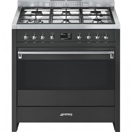 Cocina SMEG A1A-9 Cocinas a gas horno eléctrico Antracita Más de 4 zonas, Zona Gigante