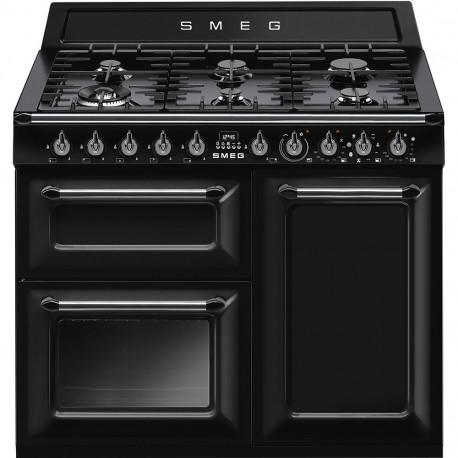 Cocina SMEG TR103BL Cocinas a Gas Negro Más de 4 zonas, Zona Gigante