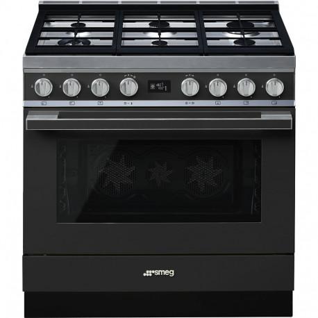 Cocina SMEG CPF9GMAN Cocinas a gas horno eléctrico Antracita Más de 4 zonas, Zona Gigante