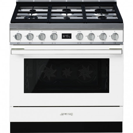 Cocina SMEG CPF9GMWH Cocinas a gas horno eléctrico Blanco Más de 4 zonas, Zona Gigante