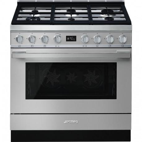 Cocina SMEG CPF9GMX Cocinas a gas horno eléctrico Inoxidable Más de 4 zonas, Zona Gigante