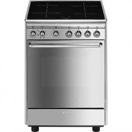 Cocina eléctrica SMEG CX60ISV9 Inoxidable 4 zonas, Zona Gigante