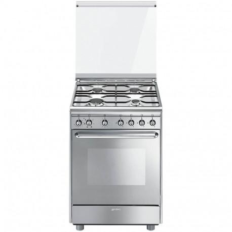 Cocina Smeg CX60SV9 60x60 cm 4 fuegos inox  A