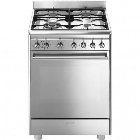 Cocina Smeg CX68MF8-2 60x60 cm 4 zonas a gas inox  A