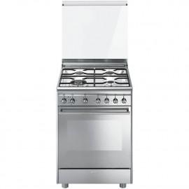 Cocina Smeg CX68M8-1 60x60 cm 4 fuegos inox  A
