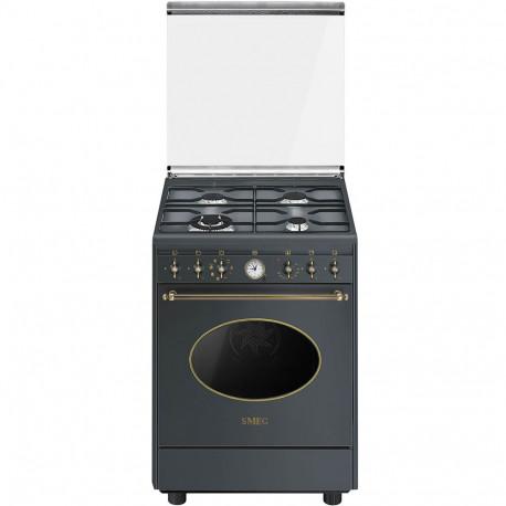 Cocina Smeg CO68GMA8 60x60 cm 4 fuegos antracita A