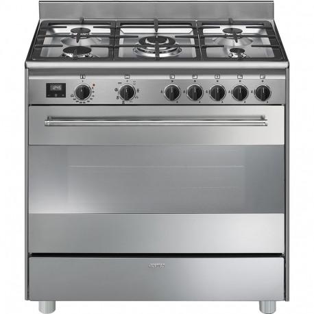 Cocina SMEG BG91X9-1 Cocinas a gas horno eléctrico Inoxidable Más de 4 zonas, Zona Gigante