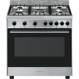 Cocina SMEG B901GMXI9 Cocinas a Gas Inoxidable Más de 4 zonas, Zona Gigante