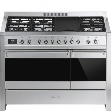 Cocina SMEG A3-81 Cocinas a gas horno eléctrico Inoxidable Más de 4 zonas, Zona Gigante