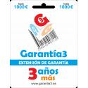 Extensión de Garantía 3 años tope máximo 1000€