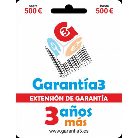 Extensión de Garantía 3 años tope máximo 500€