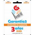 Extensión de Garantía 3 años tope máximo 2000€