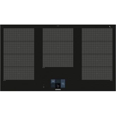 SIEMENS Encimera inducción  EX975KXW1E, 3 zonas, Negro, acabado premium, Zona gigante
