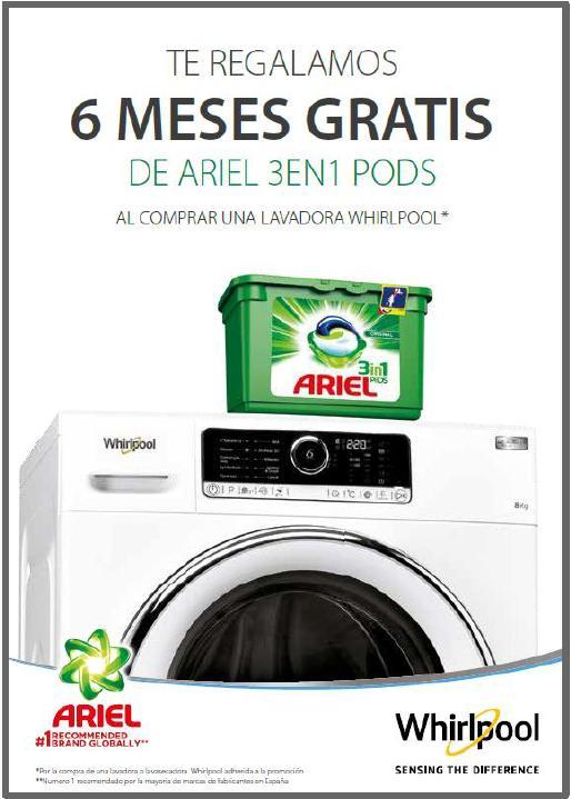6 meses ariel 3en1 PODS (ver productos adscritos a la promoción)