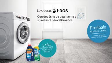 Compra una lavadora Bosch y llévate un año de detergente y suavizante gratuito.
