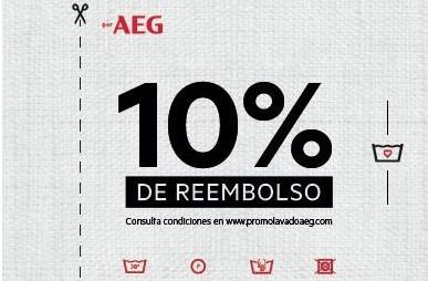 Promoción AEG 10% de reembolso en lavadoras y secadoras