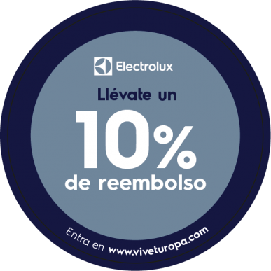Gana ya un 10% de reembolso con la compra de cualquier lavadora o secadora Electrolux.